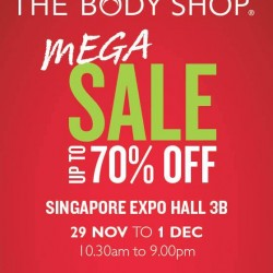 Up to 70% OFF! The Body Shop Mega Sale at EXPO