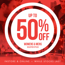 50% Off Womens & Mens Selected Styles! Cotton On Year End Sale
