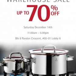 Up To 70% Discount Selected Kitchenware! WMF Singapore Warehouse Sale 2013