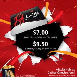 Cathay Cineplexes | Passion Card Promotion