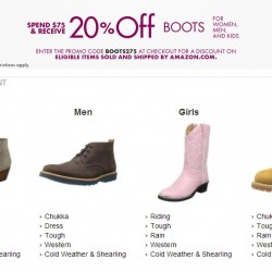 Amazon Boots Promotion: Spend US$75 and Receive 20% OFF