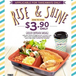 【Eggs & Berries】Grilled Chipolata Sausage Breakfast Set Promotion