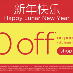 Crocs Chinese New Year Online Promotion