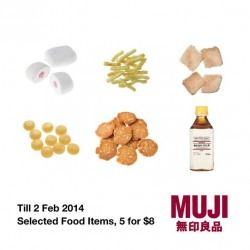 Muji Singapore selected food items Promotion
