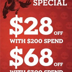 Timberland Singapore Chinese New Year Special Promotion
