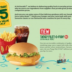 McDonald's New Tangy Filet-O-Fish Extra Value Meal