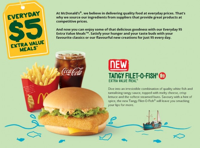 McDonald's New Tangy Filet-O-Fish Extra Value Meal - 👑BQ sg