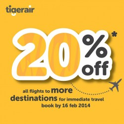 Tiger Airways Promotion February 2014
