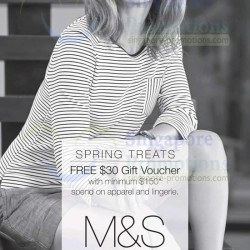 Marks & Spencer   FREE S$30 Gift Voucher Promotion March 2014