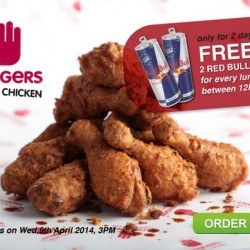 FoodPanda | Get 2 Red Bulls for every lunch orders from 4Fingers