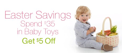 Amazon.com | Spend $35 on Baby Toys, Get $5 Off