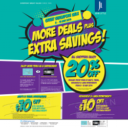 John Little Singapore | Storewide Promotion May 2014