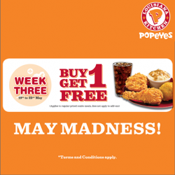 Popeyes Singapore | Buy 1 Get 1 FREE on all combo meals
