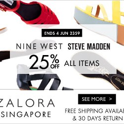 Zalora Singapore | Steve Madden & Nine West Shoes Sale