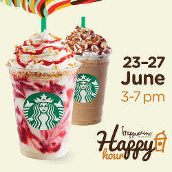 Starbucks | Happy frappuccino Happy Hour 1 for 1 deal