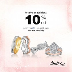 SooKee | Additional 10% off GSS for facebook fans