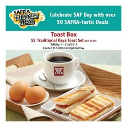 Toast Box | Traditional Kaya Toast set @$2 with SAFRA cards