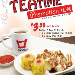 Koufu | Teatime Promotion set at S$3.5