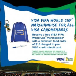 McDonald's | Free World Cup goodies for VISA cardholders