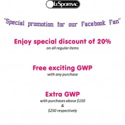 LeSportsac | 20% off special promotion for FaceBook fans