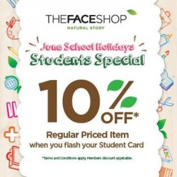 Faceshop Singapore | School Holidays special