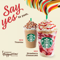 Starbucks New Frappés: Tiramisu & Strawberry Cheesecake is coming to You