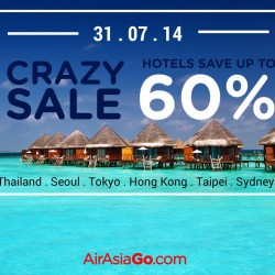AirAsiaGo | Month-End Madness Sale 60% off hotels