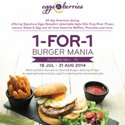 Eggs & Berries | 1FOR1 Burger Mania