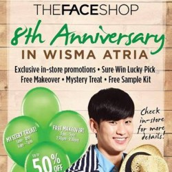 The Face Shop | 8th Anniversary promotion up to 50% off