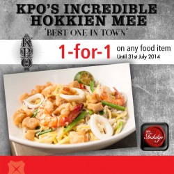 KPO Café and Bar | DBS/POSB Exclusive Promotion