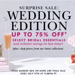 Kate Spade USA | Wedding Edition Surprise Sale