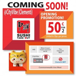 Sushi Express | New Take-out outlet @ Clementi