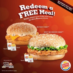 Alive Museum | Free Burger King meals