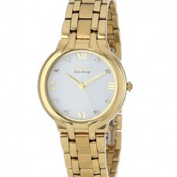 "Amazon | Citizen Women's EM0132-59A ""Bella"" Stainless Steel Eco-Drive Watch with Diamonds"