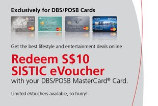 SISTICS | Free eVoucher for DBS/POSB MasterCard holders