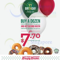 Krispy Kreme Singapore | Second Dozen Doughnuts Promotion