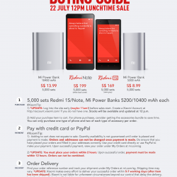 Xiaomi Singapore | Redmi 1S & Redmi Note & Powerbank Promotion