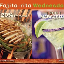 Chili's | 20% off Fajita-Rita Wednesday