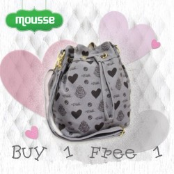 Mousse | Buy 1 get 1 free Canvas Bucket Bag