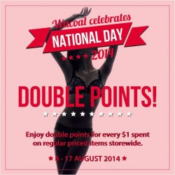 Wacoal | National Day special double points