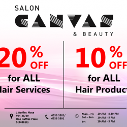 One Raffles Place | Hair Services & Products promotion