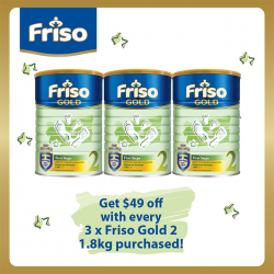 Friso | $49 off every 3's Friso Gold 2 purchased