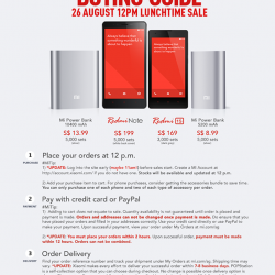 Xiaomi | RedMi note/1s & Mi powerbank launch sale