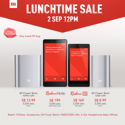 Xiaomi | Redmi Note & Redmi 1S sale on 2 Sep
