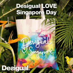"Desigual | FREE ""Desigual Love Singapore"" Tote Bag"