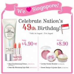 Etude House | National Day up to $8.9 off special