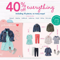 Carter's USA | 40% OFF Everything + Additional 25% OFF US$50