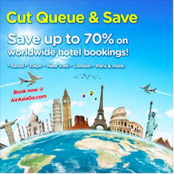 AirAsiaGo | CUT QUEUE & SAVE promotion up to 70% off