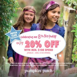 Pumpkin Patch | 8th Anniversary 20% Off Sale