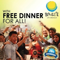 Brazil Churrasco | September complimentary dinners